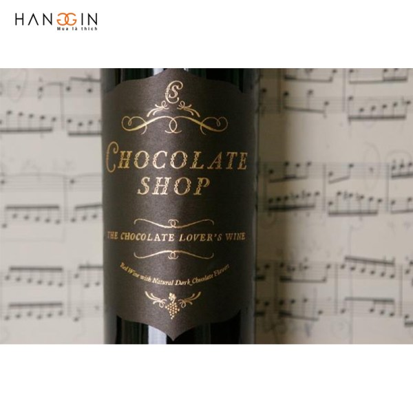 Rượu Vang đỏ Chocolate Shop Lover's Wine Natural Dark Chocolate