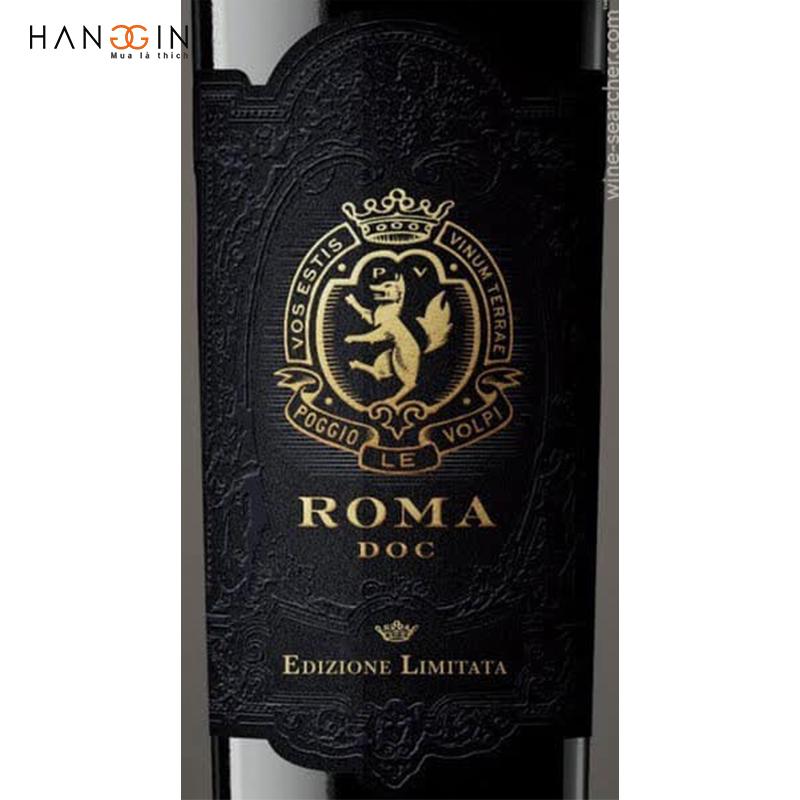 Rượu vang đỏ Roma Rosso Edizione Limitata D.O.C 2014