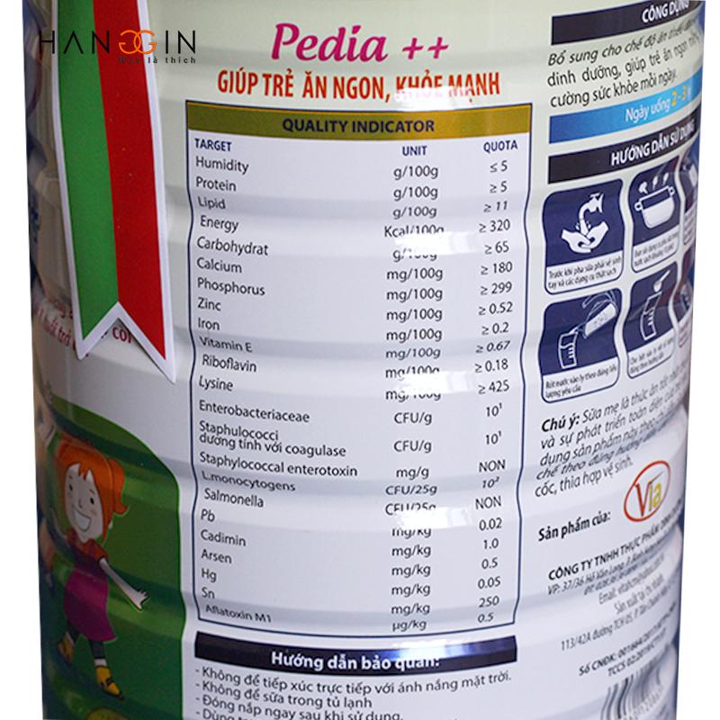Các thành phần của Sữa Pedia Gold - Giải pháp giúp bé cao lớn, khỏe mạnh