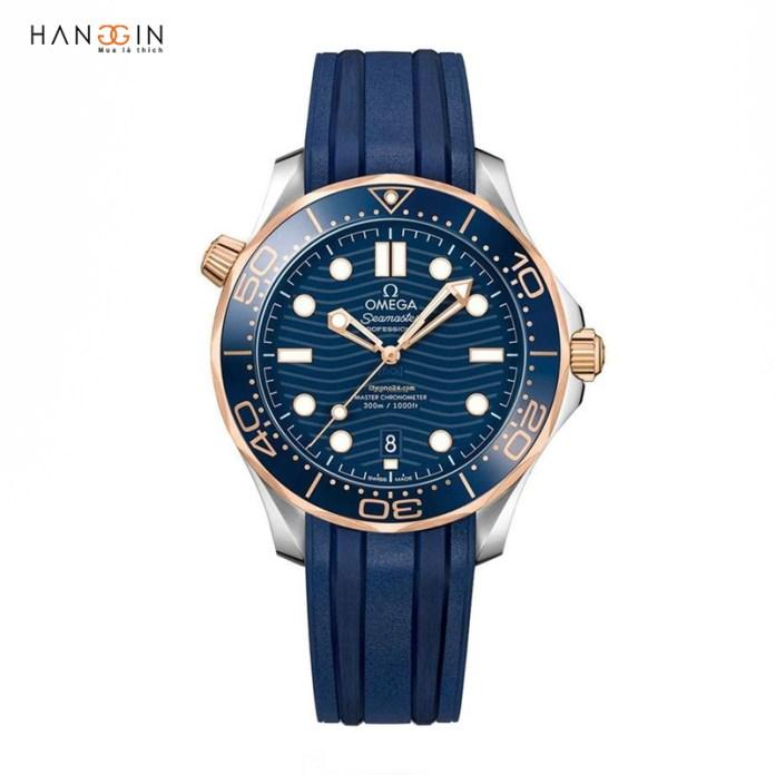 Omega Seamaster Diver 300 Gold Blue wave