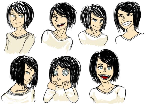 Character Emotion Sheet for Joy