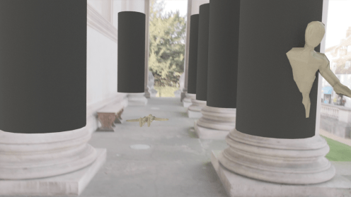 Aligning the pillars with the footage
