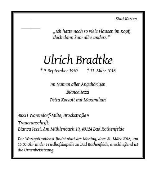 Bradtke, Ulrich
