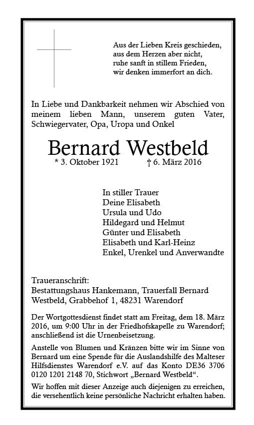 Westbeld, Bernard