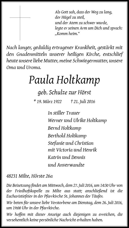 Holtkamp, Paula