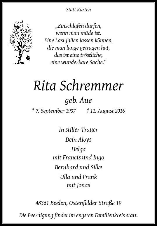Schremmer, Rita