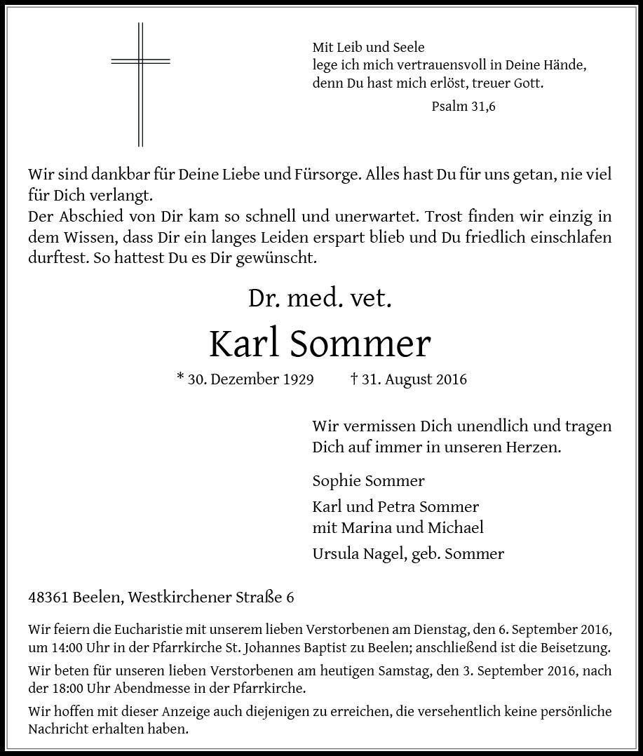 Sommer, Dr. Karl