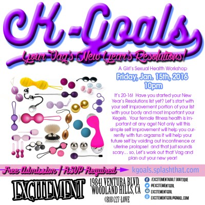 K-Goals! Your Vag's New Year's Resolutions! A Girl's Sexual Health Workshop