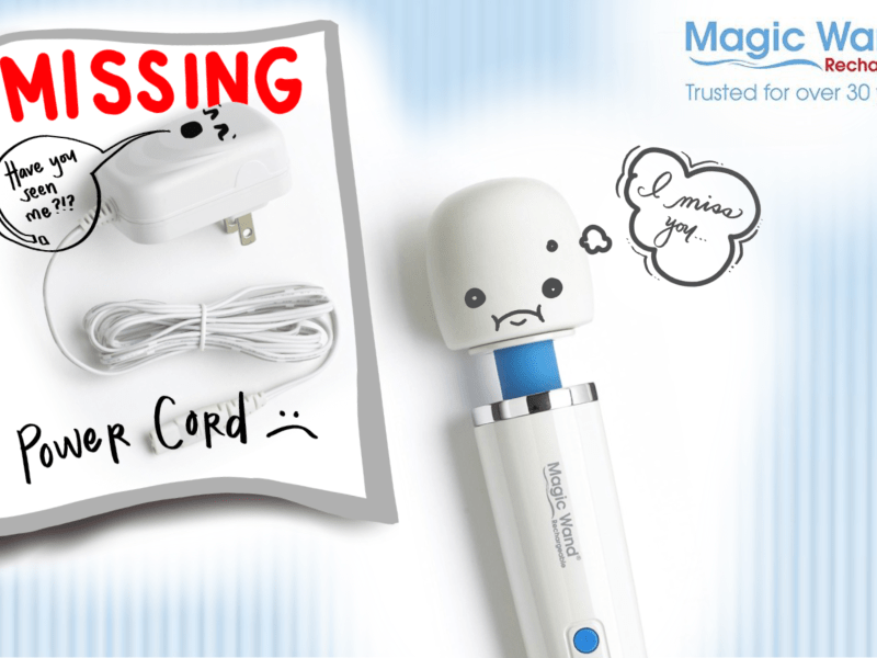 """I lost my Magic Wand charging cord when I moved, where can I get a replacement?"""