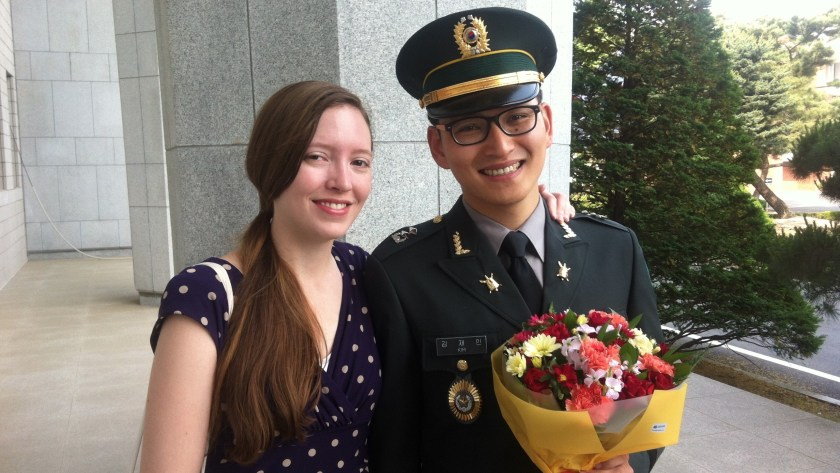 """We'd gotten officially engaged and """"come out"""" to everyone by the time the hubs finished his army service. (For the record, basically everyone was a huge fan.)"""