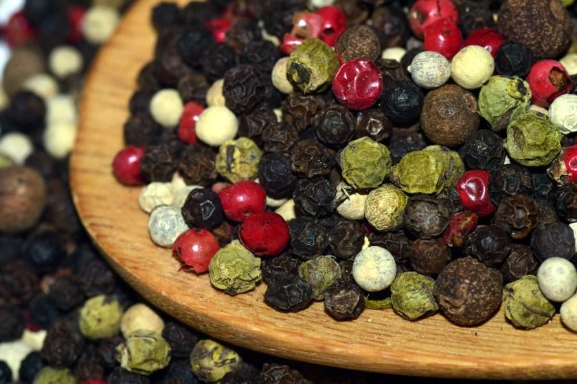 photo of peppercorns
