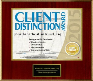 DUI Criminal Defense Award