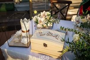 vintage esküvői asztaldísz