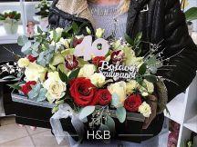 vegyes virágbox születésnapra számmal