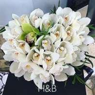 fehér orchidea box különleges dobozban