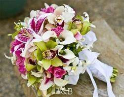 orchidea liliom menyasszonyi csokor