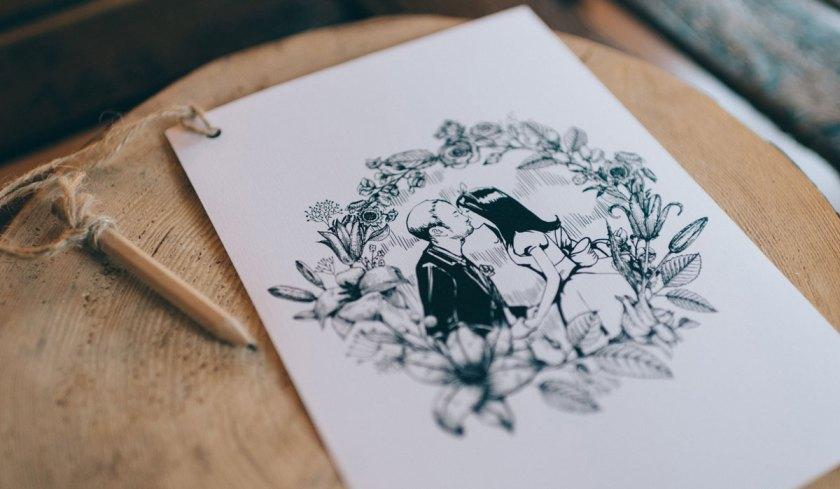 Quiz Unterhaltung Hochzeit Instagram Share our Story Teile unsere Geschichte Vintage Do it yourself Fächer Alice im Wunderland Hochzeitslogo