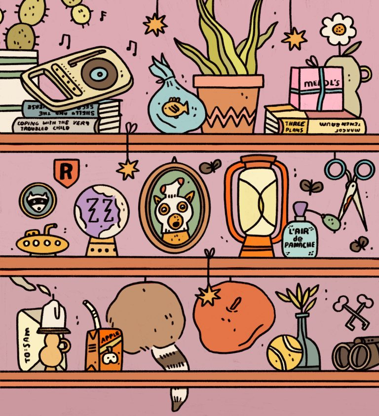 A Collection of Illustrated Shelves