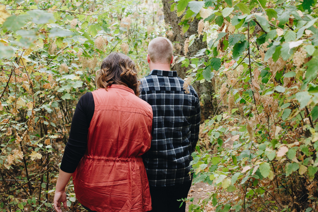 colville engagement session, fall, woods
