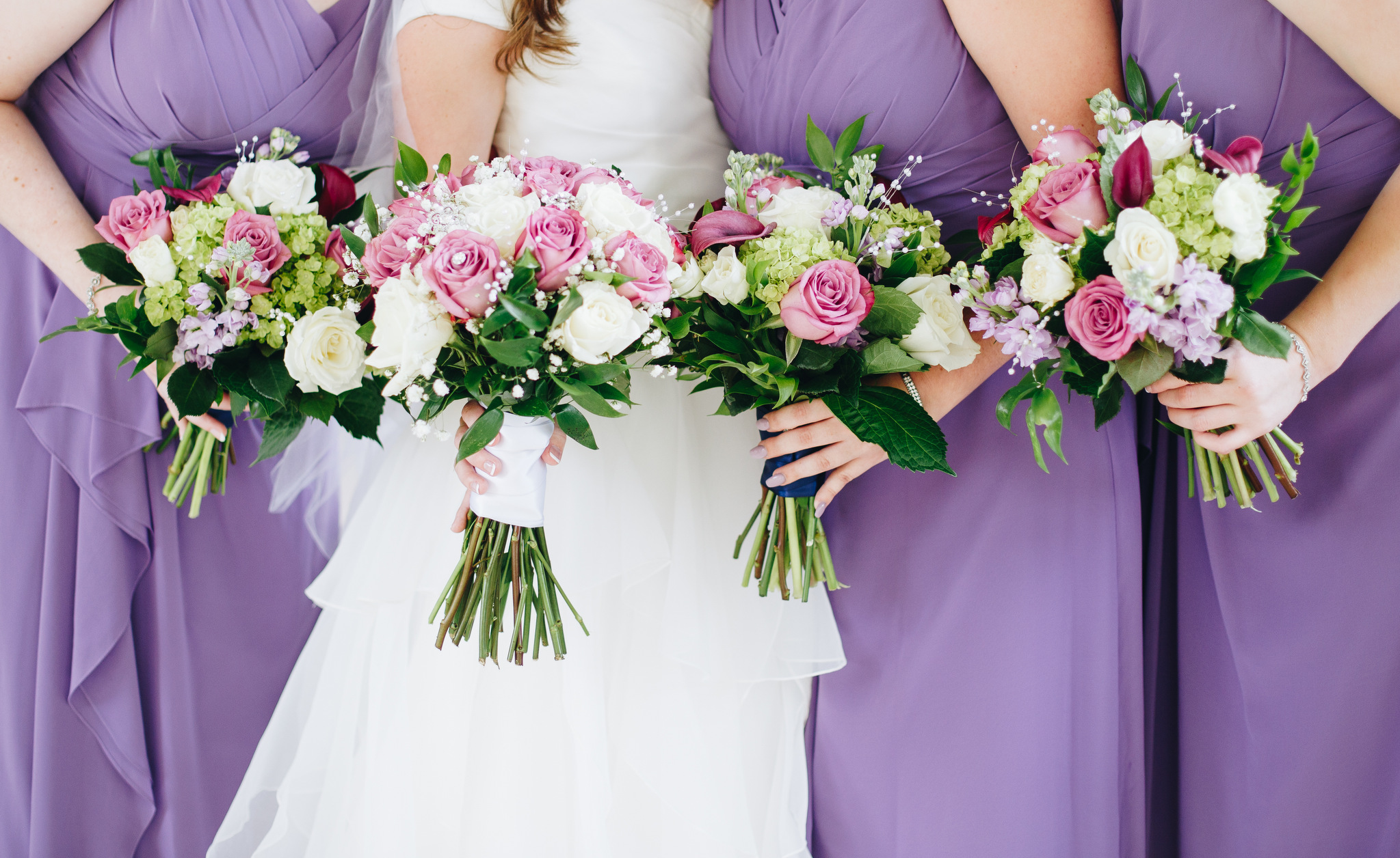 washington dc wedding - purple bridesmaids