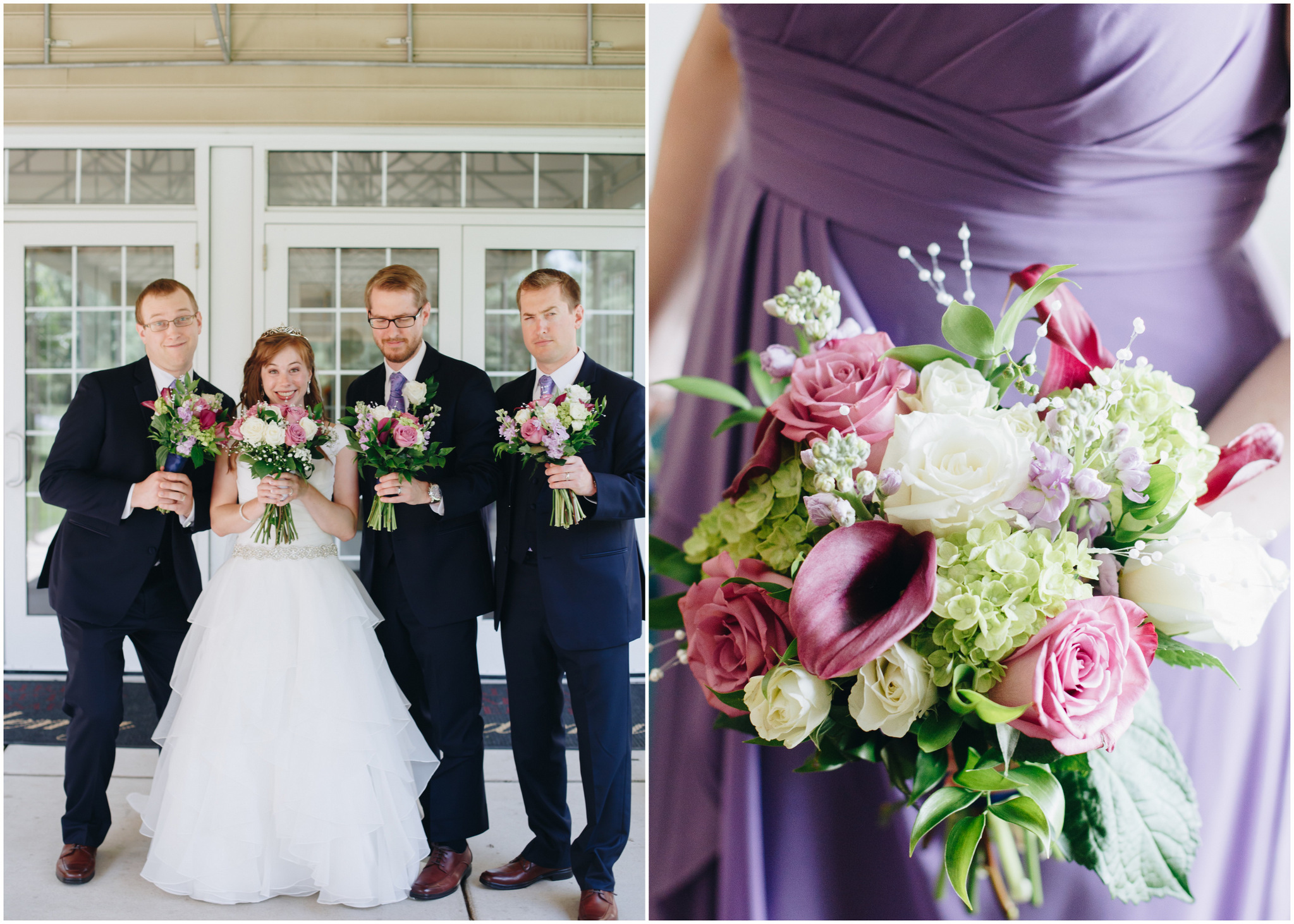 washington dc wedding - purple and navy
