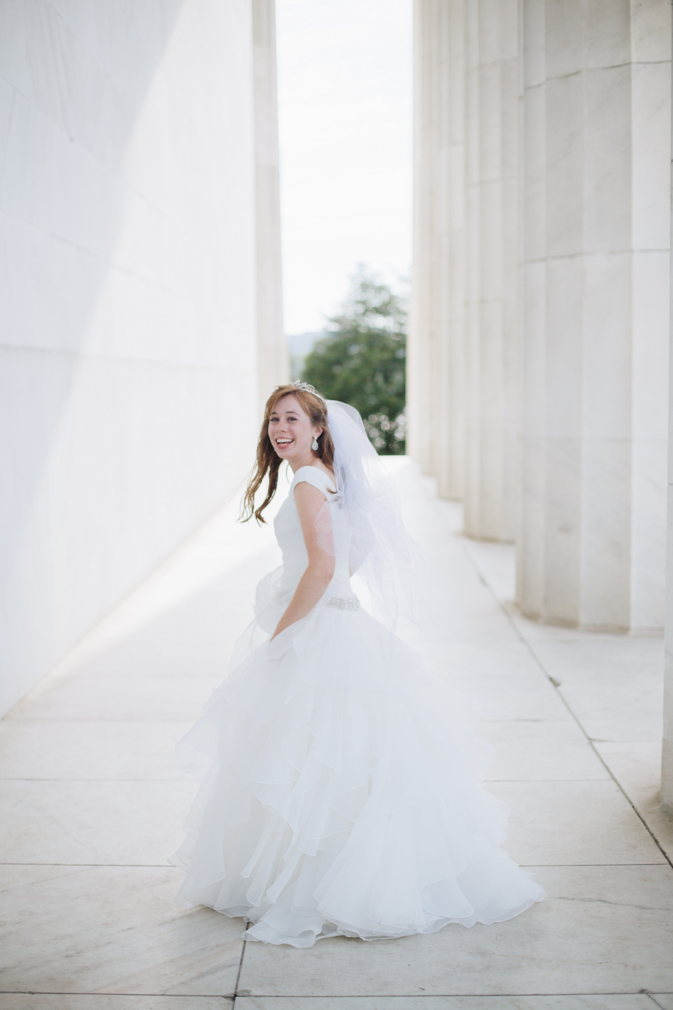 BRIDE: washington dc, lincoln memorial wedding photos, couple portraits