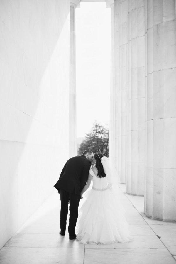 washington dc, lincoln memorial wedding photos, couple portraits