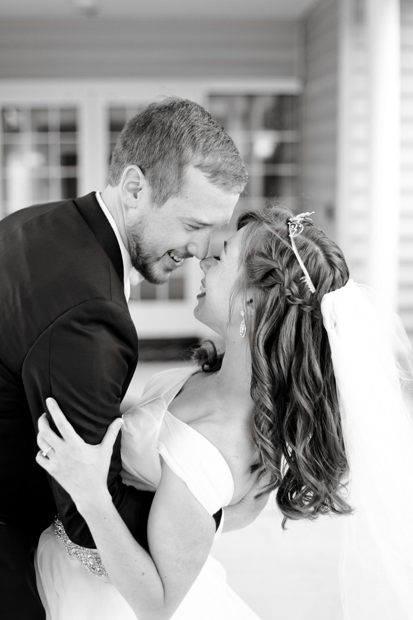 wedding couple - black and white