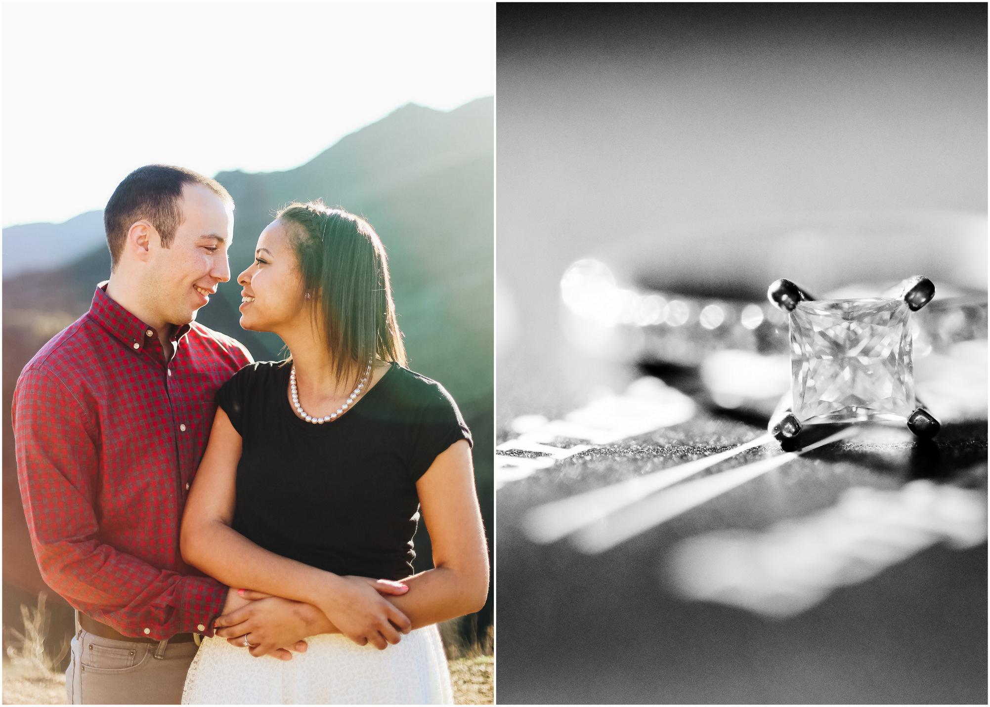 engagement photos (custom designed diamond ring!)