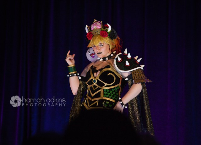 Bowsette cosplay at the cosplay fashion show