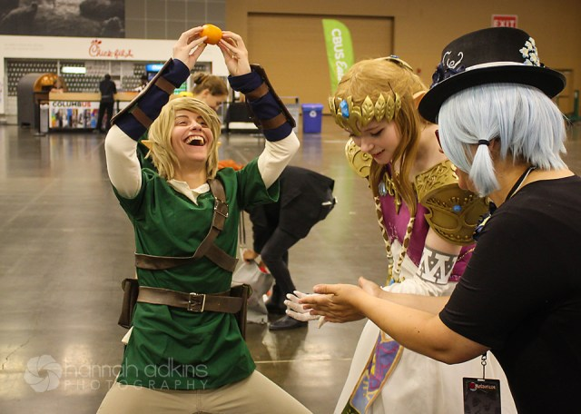 Link &  Zelda cosplayers