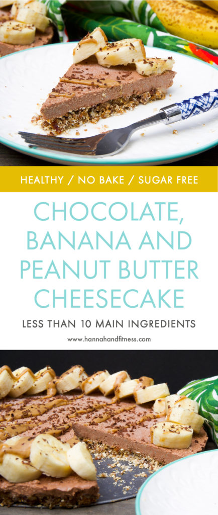 Healthy Chocolate, Banana and Peanut Butter Cheesecake ...