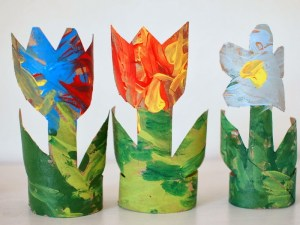 toilet roll flowers