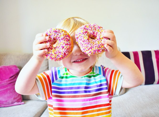 rainbow doughnuts photo