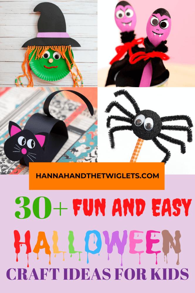 Easy Halloween craft ideas for kids Pinterest