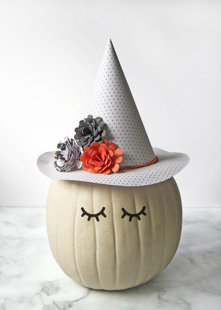 no-carve witch pumpkin