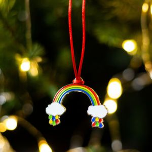 rainbow Christmas hanging decoration
