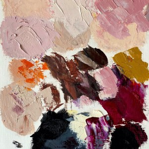 oil paint palette Dallas, Texas artist Hannah Brown used to paint Dolce & Crowbbana
