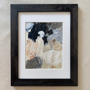 Framed paint palette used to paint Dior by Dallas, TX artist Hannah Brown.