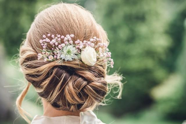 bridal hair style gloucestershire wedding - hannah buckland