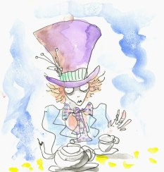 Mad Hatter (Tim Burton original sketch)