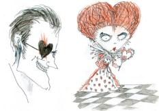 Wonderland concept art (Tim Burton original sketches)