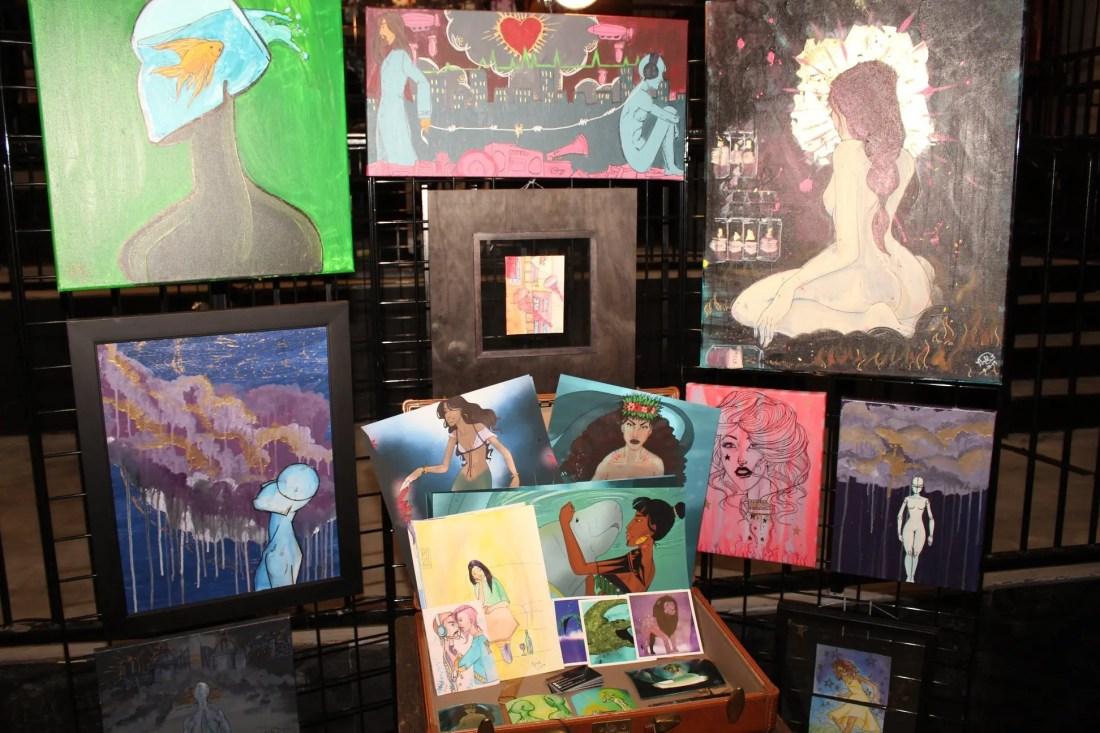 Hannah Day's showcase for Raw Atlanta art show