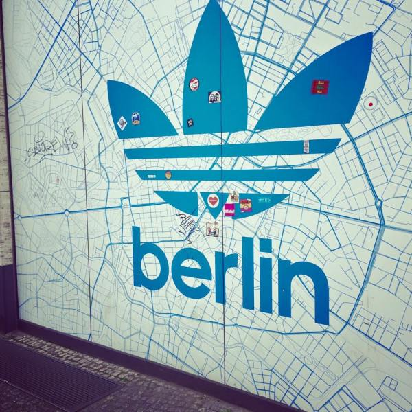 Adidas sign in Berlin