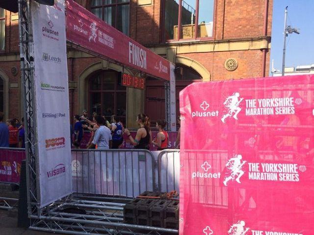 leeds half marathon starting line
