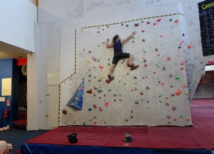 Rock over climbing Hannah Gets Hench