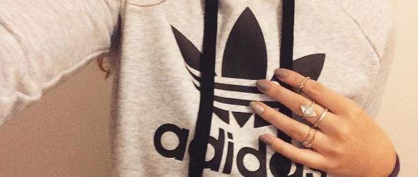 Adidas hoody on girl
