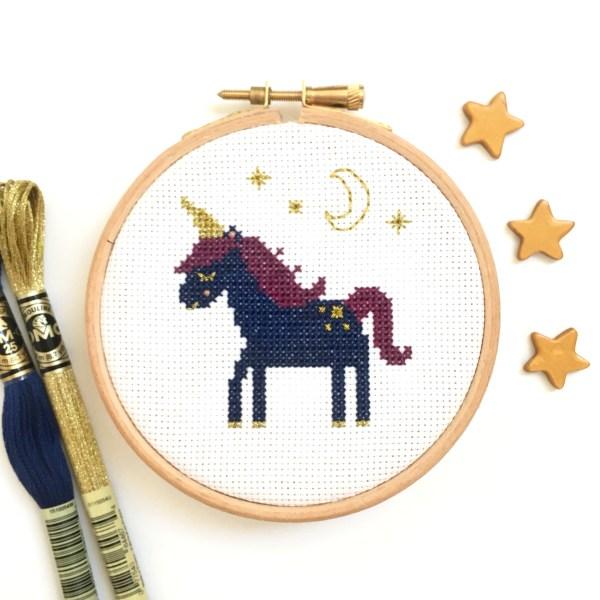 sleepy-unicorn-cross-stitch-hoop