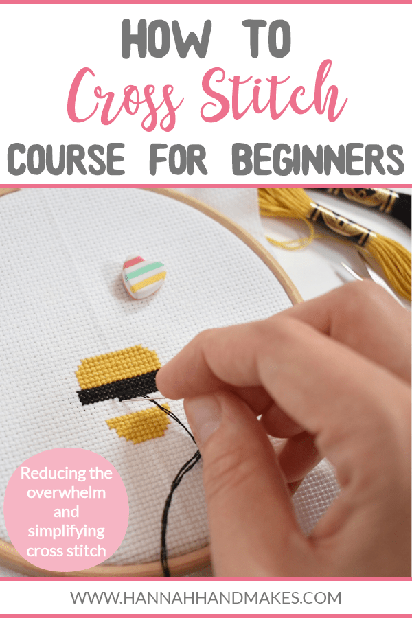 In my brand new How to Cross Stitch Course for Beginners, I am stripping back the overwhelm and simplifying cross stitch to have you stitching in no time! Tired of scrolling Pinterest to find the relevant how to cross stitch posts? I'm here to take that away! The course is packed with instructions on how to stitch along with my own tips and tricks that I've picked up during my 5-year cross stitch journey - and it's all in one place!
