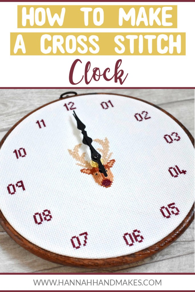 How to Make a Cross Stitch Clock Tutorial by Hannah Hand Makes.
